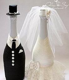 Bardzo ciekawe butelki weselne :)
