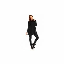 Mała czarna sukienka z golfem KM133