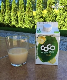 Uwielbiam wodę kokosową z bananem! Pełno elektrolitów (na kaca, po treningu, ...