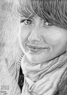 Portret dziewczyny wykonany...
