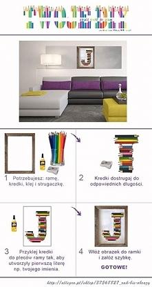 Zrób coś fajnego do swojego mieszkania;)  1. Potrzebujesz: ramę (nick allegro...