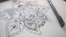 moje zentangle&doodle / flower art