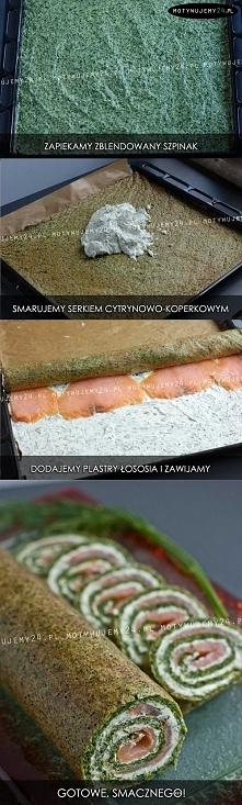 Rolada szpinakowa z łososiem ;)