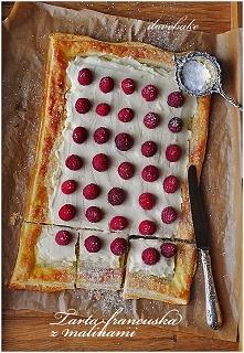 Tarta francuska z malinami