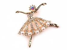 Piękna broszka baletnica