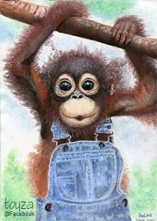 Rysunek małpki wykonany w 2...