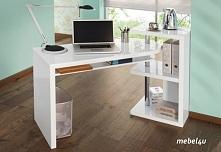 Ciekawe biurko MATI z możliwościa przesuwania blatu. Biel fajnie kontrastuje ...
