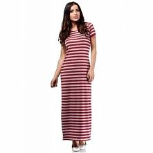 MOE169 sukienka czerwona