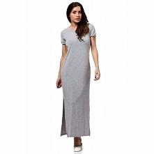 MOE169 sukienka szara