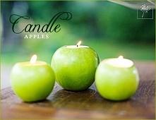 Świecznik z jabłek diy
