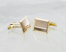 Spinki mankietowe ze złota - powinny pasować kolorem do obrączek i biżuterii ...