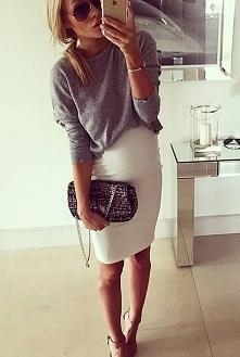 świetna spódnica, ciąża