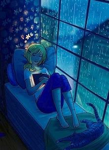 Już zaczą się sierpień niebawem przyjdzie jesień i te zimne deszczowe dni, wieczory.... obrazek odzwierciedla zbliżające się moje wieczory, mąż nie będzie miec ze mnie pożytku