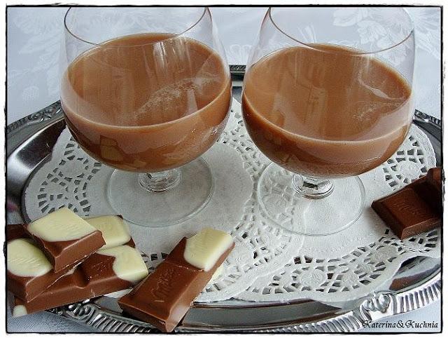 LIKIER CZEKOLADOWY (na bazie rumu)  Składniki: 2 budynie czekoladowe 1 litr schłodzonego w lodówce mleka 800 g cukru kryształu 100 g czekolady w proszku ½ litra rumu  Przygotowanie: W rondlu zmieszaj ze sobą budyń, mleko oraz cukier. Mieszaninę wspomnianych składników zagotuj. Po ugotowaniu pozostaw masę do wystygnięcia. Pamiętaj o mieszaniu od czasu do czasu, zapobiegnie to utworzeniu się na wierzchu kożucha. Kiedy masa będzie letnia, dodaj do niej czekoladę w proszku, a następnie rum. Likier zlej do butelek. Jest gotowy do spożycia zaraz po przyrządzeniu. Musisz tylko pamiętać, by trzymać go w lodówce.