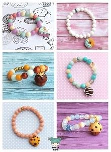 urocze bransoletki handmade ze słodkościami w kamieniach naturalnych. sklepik: miyakabizu.sellingo.pl, fb: miyaka-biżu ;)