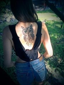 Tatuaż sowa. Moja <3