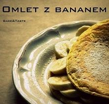 Składniki jeden omlet 2 jajka 1 łyżka mąki (u mnie pełnoziarnista) szczypta s...