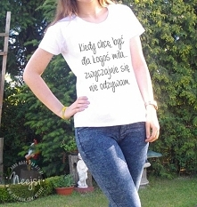 Ręcznie malowana koszulka!  Kliknij w zdjęcie, a przeniesie Cię na moją stron...