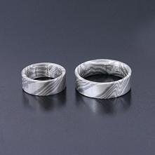 Obrączki mokume gane (palladi i srebro) Inne Obrączki