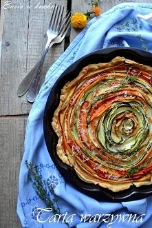 kolorowa tarta, tarta warzywna