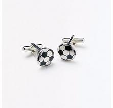 Spinki męskie ze stali szlachetnej w kształcie piłek footballowych - pomysł n...