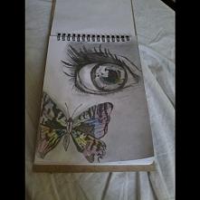 Szkicownik,oko,motyl