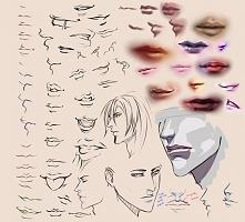 jak rysować usta