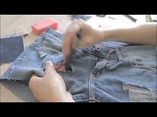 Jak przerobić stare dżinsy na modne szorty ! DIY