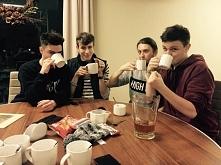 dżentelmeni przy herbatce :P
