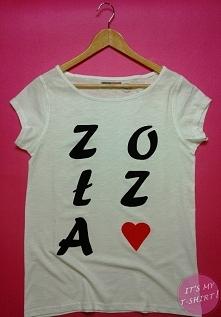 ZOŁZA - ręcznie malowany damski t-shirt
