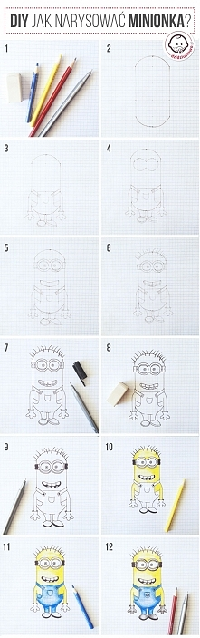 Jak narysować Minionka?