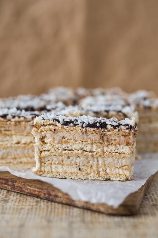 orzechowo-kokosowe ciasto bez pieczenia