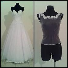 Suknia ślubna z bluzką zakł...