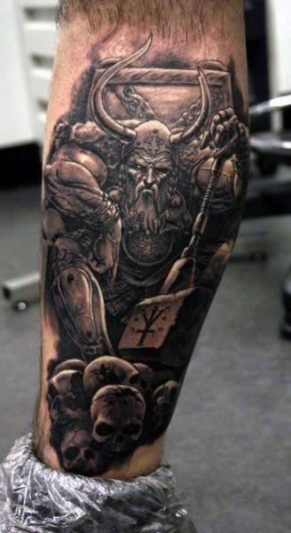 Tatuaż Wiking I Czaszki Na Tatuaże Zszywkapl