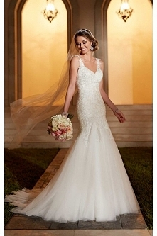 Stella York Beaded Lace And Tulle Satin Wedding Dress Style 6106
