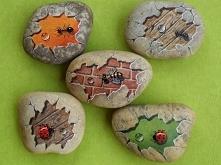Malowanie kamieni może być ...