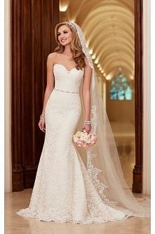 Stella York Romantic Lace Over Satin Wedding Dress Style 6124