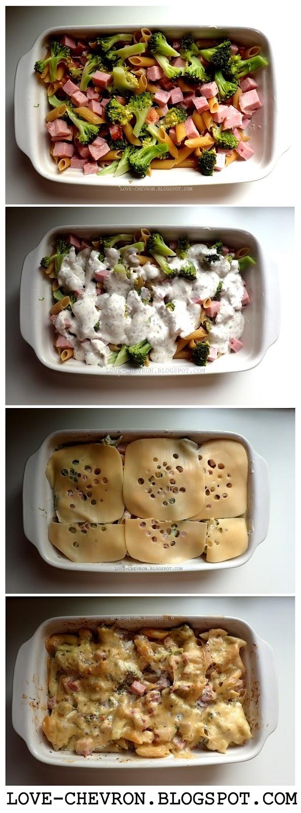Zapiekanka makaronowa z szynką i brokułem! Przepis po kliknięciu na zdjęcie ;)