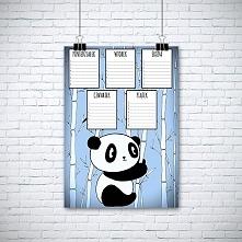 Plan lekcji dla dzieci. Panda