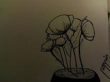 początki rysowania, długopis