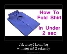 Składanie koszulek