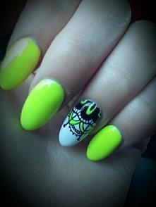 #nails #neon #paznokcie