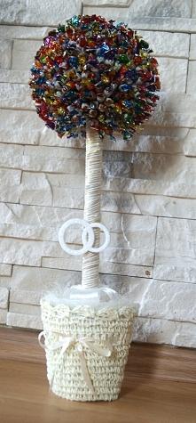 Drzewko szczęścia z mini cukierków