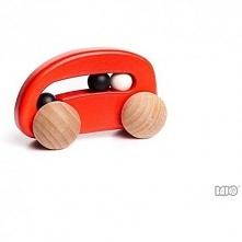 Czerwone, z kółkami i kuklami:)   Bajo 49310 - Wykonane z drewna bukowego aut...