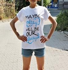 Koszulka MAYBE OKAY WILL BE OUR ALWAYS - modna bluzka damska z cytatem z filmu i książki GWIAZD NASZYCH WINA - The Fault in Our Stars. Fajna koszulka fandomowa z nadrukiem. Świe...