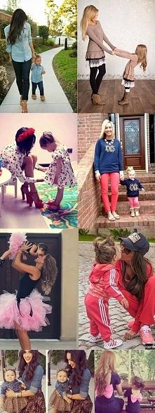 Mama i córka tak samo ubrane :)