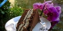 Kinder pingui  Ciasto o smaku przypominającym popularnego batonika, czyli Kinder Pingui w wersji XXL. Czekolada, biszkopt kakaowy i masa śmietankowa z serkiem mascarpone.Ciasto ...