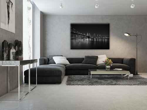 Piękny salon w biało czarnych barwach. Dekorujmy