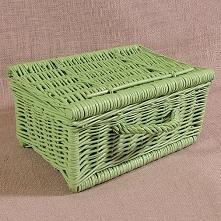 Wiklinowa kasetka - zielona
