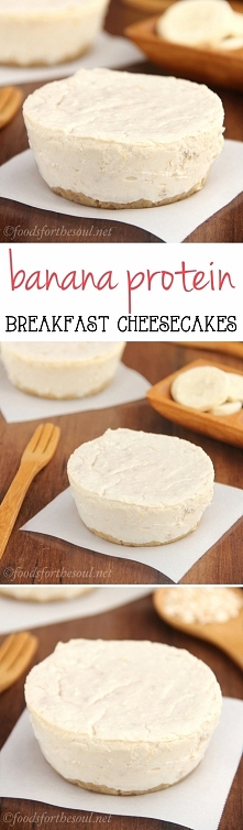 Banana Breakfast Cheesecakes ¼ c instant (quick-cook) oats 2 tbsp unsweetened...